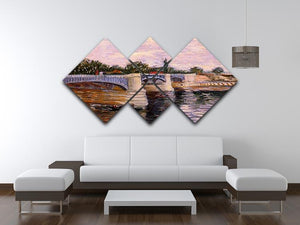 The Seine with the Pont del Grande Jette by Van Gogh 4 Square Multi Panel Canvas - Canvas Art Rocks - 3