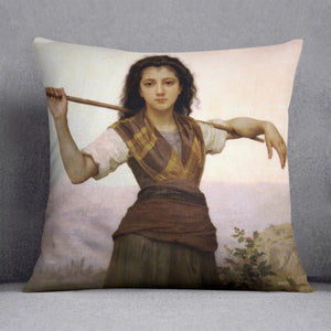 The Shepherdess By Bouguereau Cushion