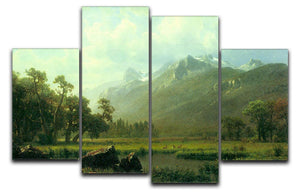 The Sierra near Lake Tahoe California by Bierstadt 4 Split Panel Canvas - Canvas Art Rocks - 1
