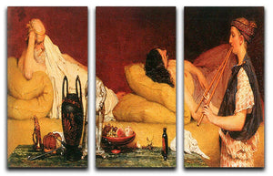 The Siesta by Alma Tadema 3 Split Panel Canvas Print - Canvas Art Rocks - 1