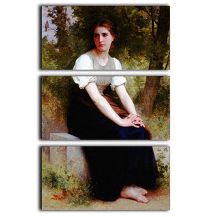 The Song of the Nightingale By Bouguereau 3 Split Panel Canvas Print - Canvas Art Rocks - 1