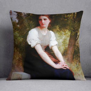 The Song of the Nightingale By Bouguereau Cushion