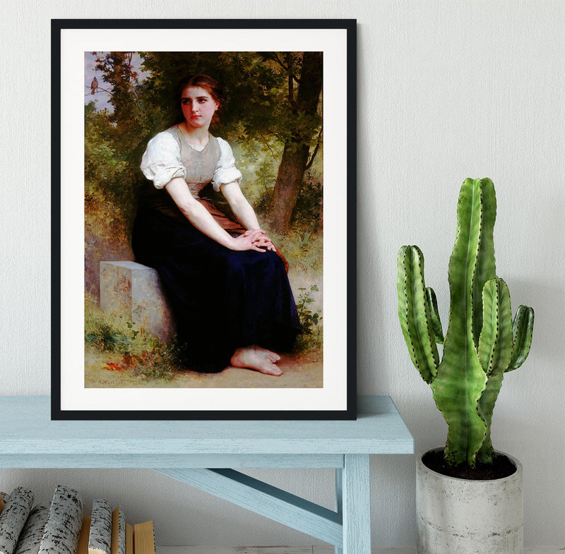 The Song of the Nightingale By Bouguereau Framed Print - Canvas Art Rocks - 1