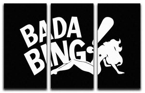 The Sopranos Bada Bing 3 Split Panel Canvas Print - Canvas Art Rocks