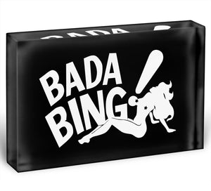 The Sopranos Bada Bing Acrylic Block - Canvas Art Rocks - 1