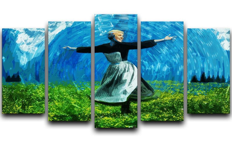 The Sound Of Music Coloured 5 Split Panel Canvas  - Canvas Art Rocks - 1