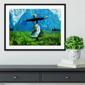 The Sound Of Music Coloured Framed Print - Canvas Art Rocks - 1