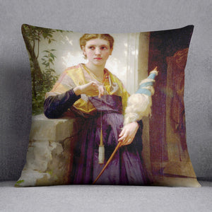 The Spinne By Bouguereau Cushion