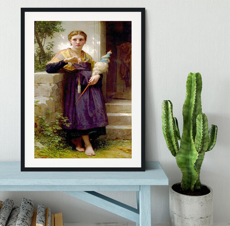 The Spinne By Bouguereau Framed Print - Canvas Art Rocks - 1
