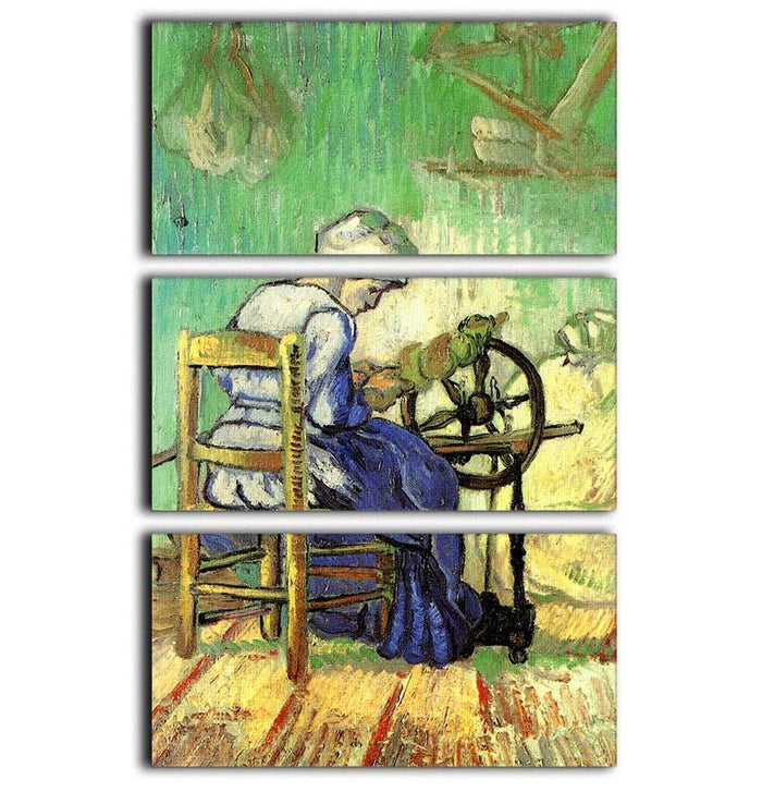 The Spinner by Van Gogh 3 Split Panel Canvas Print