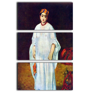 The Sultan by Manet 3 Split Panel Canvas Print - Canvas Art Rocks - 1