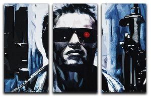 The Terminator Double Guns 3 Split Panel Canvas Print - Canvas Art Rocks - 1