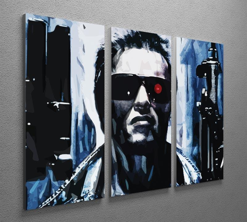 The Terminator Double Guns 3 Split Panel Canvas Print - Canvas Art Rocks - 2