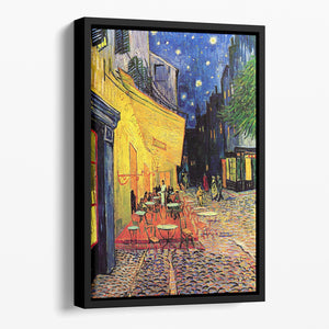 The Terrace Cafe by Van Gogh Floating Framed Canvas