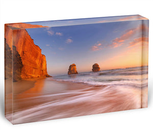 The Twelve Apostles Acrylic Block - Canvas Art Rocks - 1