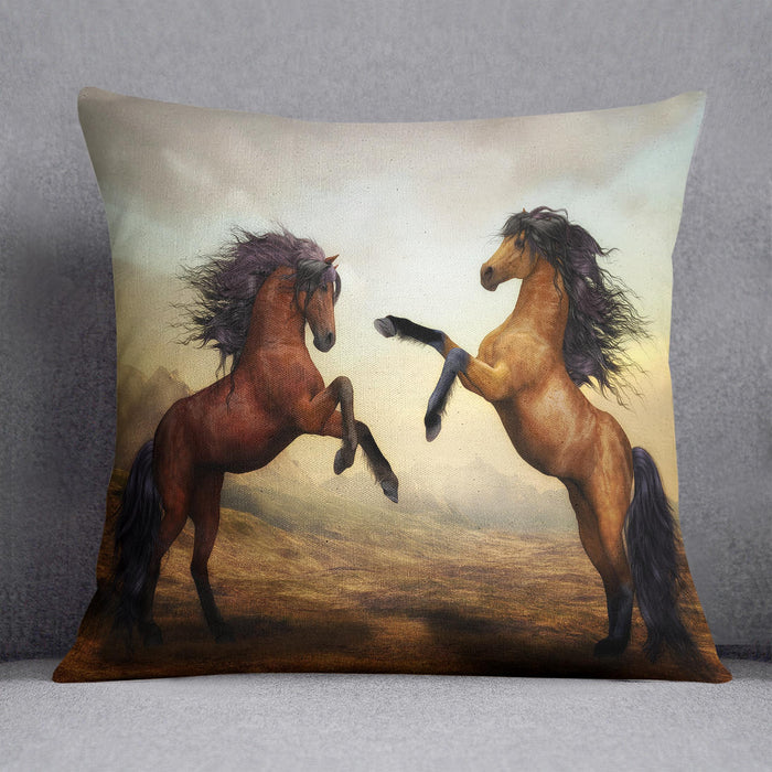 The Two Horses Cushion