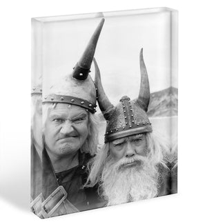 The Two Ronnies dressed as Vikings Acrylic Block - Canvas Art Rocks - 1