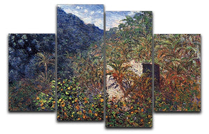 The Valley Sasso Bordighera by Monet 4 Split Panel Canvas  - Canvas Art Rocks - 1