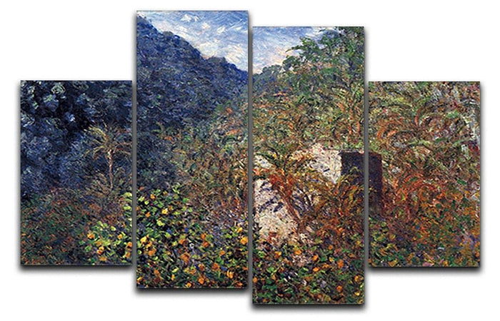 The Valley Sasso Bordighera by Monet 4 Split Panel Canvas
