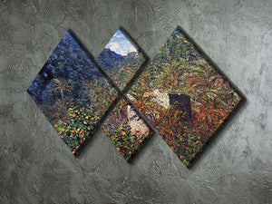 The Valley Sasso Bordighera by Monet 4 Square Multi Panel Canvas - Canvas Art Rocks - 2