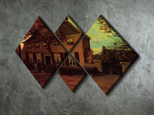 The Vicarage at Nuenen by Van Gogh 4 Square Multi Panel Canvas - Canvas Art Rocks - 2