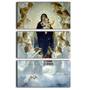 The Virgin With Angels By Bouguereau 3 Split Panel Canvas Print - Canvas Art Rocks - 1
