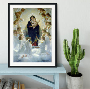The Virgin With Angels By Bouguereau Framed Print - Canvas Art Rocks - 1