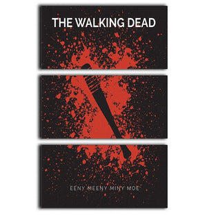 The Walking Dead Eeny Meeny Minimal Movie 3 Split Panel Canvas Print - Canvas Art Rocks - 1