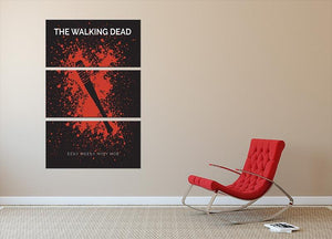 The Walking Dead Eeny Meeny Minimal Movie 3 Split Panel Canvas Print - Canvas Art Rocks - 2