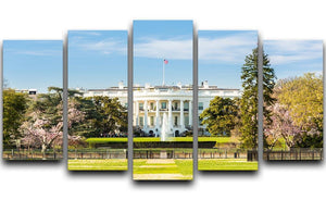 The White House Blossoms 5 Split Panel Canvas  - Canvas Art Rocks - 1