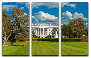 The White House the South Gate 3 Split Panel Canvas Print - Canvas Art Rocks - 1