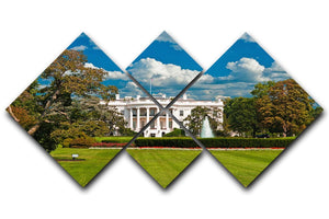 The White House the South Gate 4 Square Multi Panel Canvas  - Canvas Art Rocks - 1