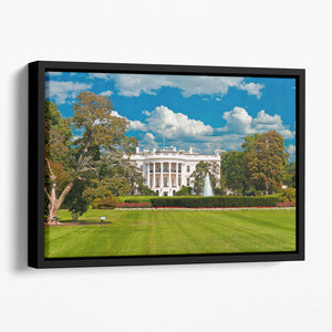 The White House the South Gate Floating Framed Canvas