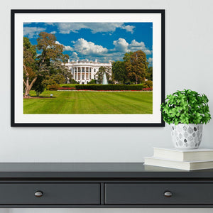 The White House the South Gate Framed Print - Canvas Art Rocks - 1