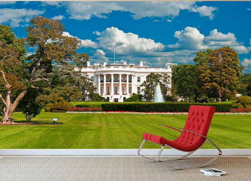 The White House the South Gate Wall Mural Wallpaper - Canvas Art Rocks - 1
