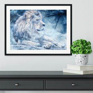 The White Lion Framed Print - Canvas Art Rocks - 1