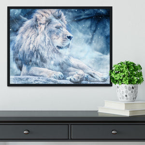 The White Lion Framed Print - Canvas Art Rocks - 2