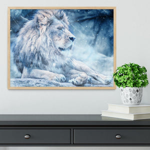 The White Lion Framed Print - Canvas Art Rocks - 4