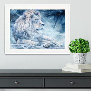 The White Lion Framed Print - Canvas Art Rocks - 5