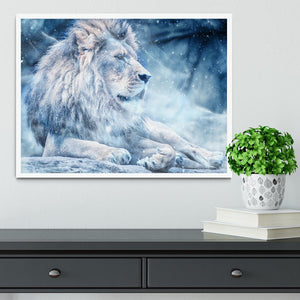 The White Lion Framed Print - Canvas Art Rocks -6