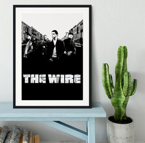 The Wire Framed Print - Canvas Art Rocks - 1
