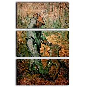 The Woodcutter after Millet by Van Gogh 3 Split Panel Canvas Print - Canvas Art Rocks - 1