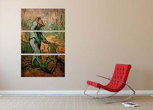 The Woodcutter after Millet by Van Gogh 3 Split Panel Canvas Print - Canvas Art Rocks - 2