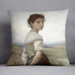 The Young Shepherdess By Bouguereau Cushion