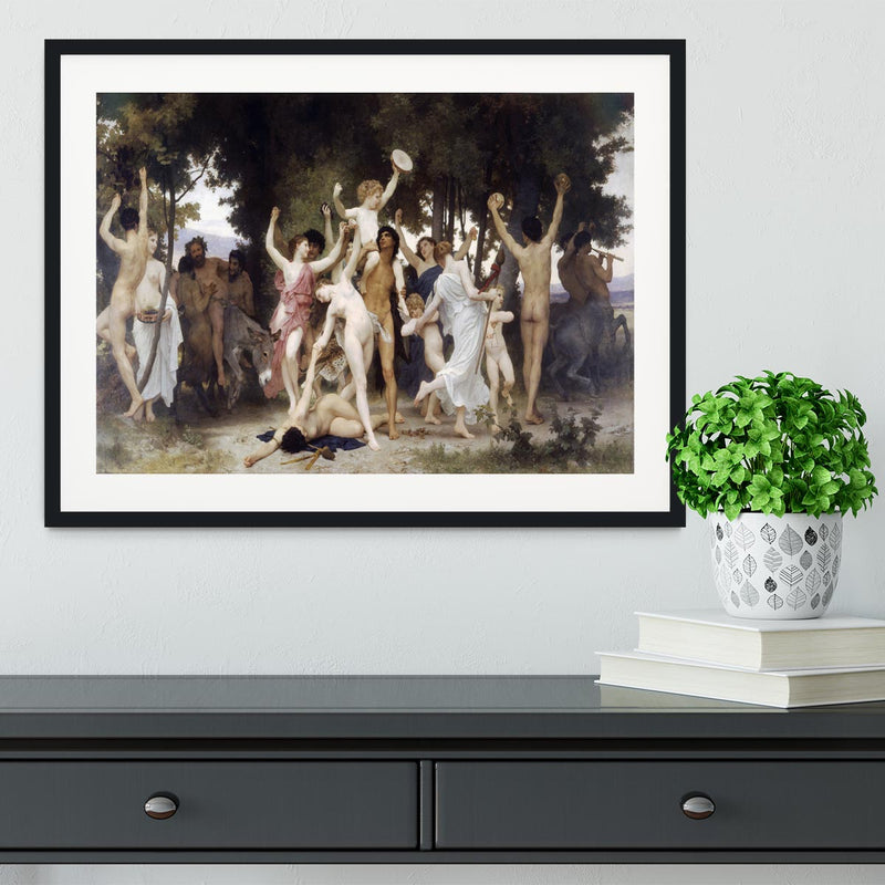 The Youth of Bacchus By Bouguereau Framed Print - Canvas Art Rocks - 1