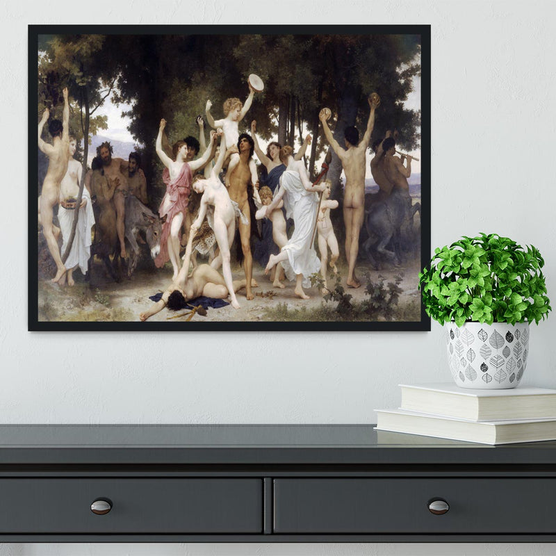 The Youth of Bacchus By Bouguereau Framed Print - Canvas Art Rocks - 2