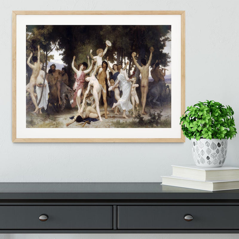 The Youth of Bacchus By Bouguereau Framed Print - Canvas Art Rocks - 3