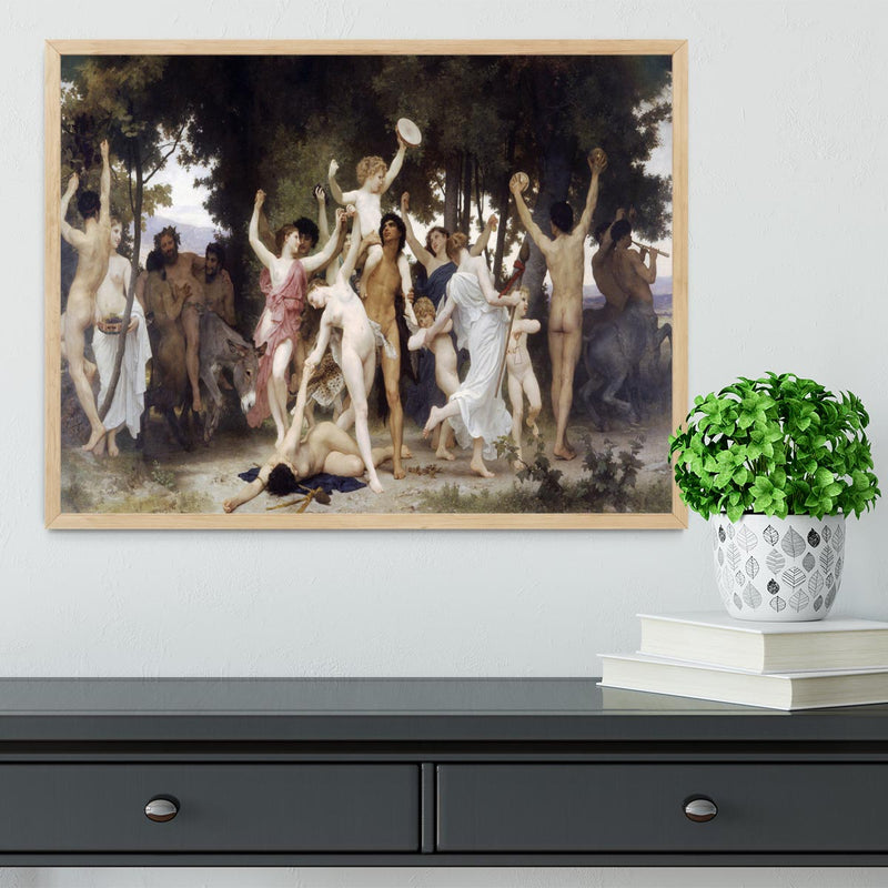 The Youth of Bacchus By Bouguereau Framed Print - Canvas Art Rocks - 4