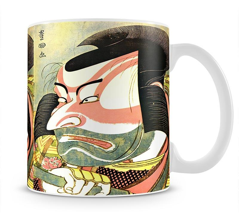 The actor Ichikawa Ebizo by Hokusai Mug - Canvas Art Rocks - 1