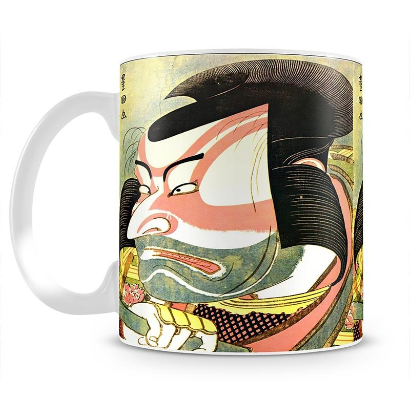 The actor Ichikawa Ebizo by Hokusai Mug - Canvas Art Rocks - 2